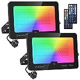 Onforu 100W Foco RGB Led (2 Pack), Foco Colores con Control Remoto, Foco led Interior de Cambio...