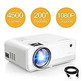 Proyector APEMAN 4500 Lúmen Mini Proyector, Soporte 1080p HD Portátil LED Proyector, Duales...