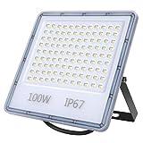 Focos Led Exterior, 100W LED Foco Exterior de alto brillo,10000LM Impermeable IP67 Proyector...