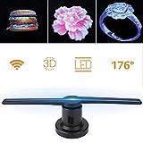 Proyector de holograma 3D, 224 piezas LED Reproductor portátil de ventilador Publicidad Foto y...