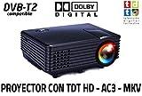 Proyector FULLHD Compatible Luximagen SV100 con TDT TV Integrado Decodificador Dolby AC3 Zoom...