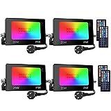 Onforu Foco RGB Led 20w (4 Pack), Foco Colores con Control Remoto, Foco led Interior de 20...