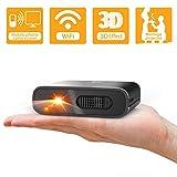 Artlii Mini proyector portátil WiFi DLP HD 3D Pico Pocket Proyector Batería recargable para...