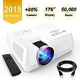 Mini proyector 2200 Lumenes, proyector de video portátil con calidad 1080P Full HD podrás...
