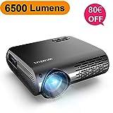 Proyector, WiMiUS 6500 Lúmenes Proyector Full HD 1920x1080P Nativo Soporta 4K Proyector Video...