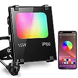 iLC Foco LED RGB de Colores 15W Inteligente Controlado por la Aplicación de Teléfono Foco...