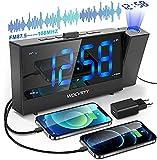 Despertador Proyector Techo, Radio Despertador con Radio FM, Función Snooze Alarma Dual,...