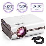 Proyector, 2018 Actualizado (2600 lúmenes) Crenova XPE496 1080P Proyector portátil de video...