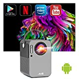 Artlii Play Proyector Android TV 9.0, Proyector Smart Portátil WiFi Bluetooth , Soporte AC-3,...