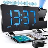 Despertador de Proyección 7 Pulgadas Radio Despertadores Reloj de Digital Pantalla de LED...