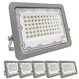 ¡OFERTA! Pack 5 unidades Foco LED OSRAM 50W Gris Slim, Iluminación Exterior IP65, Proyector...