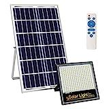 Kingwei 200W Focos LED Exterior Solares, Proyector con Detector de Radar, Luz Solar Exterior...