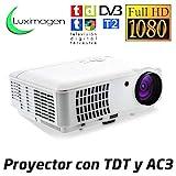 Proyector Full HD 1080P, LUXIMAGEN HD520 (2020 NUEVO), Proyector barato maxima luminosidad...