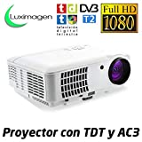 Luximagen HD520 WHITE - Proyector Barato Portátil LED (Full HD, 1920x1080, AC3, 2xHDMI, USB,...