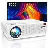 Proyector, WiMiUS 7000 Proyector Full HD 1920x1080P Proyector Cine en Casa Soporte 4K Contraste...