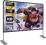 Pantalla de proyector con soporte100 Inch 16: 9 HD FáCil InstalacióN Y OperacióN Adecuado...