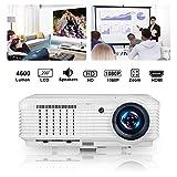 Proyector, CAIWEI Video Proyector 4500 Lúmenes Soporta Full HD 1080P Proyector LED 50000 Horas...