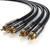 Primewire - 1m HQ Audio Cable - 2X Conectores RCA Macho a 2X Conectores RCA Macho - Conector...