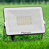 Focos LED exterior-Maxuni 30W proyector led exterior , Luz de pared exterior impermeable IP65...