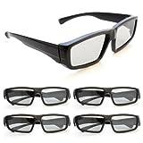 Ganzoo - Gafas 3D pasivas, polarizadas circulares para televisores 3D, juegos PC o RealD,...