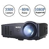 Proyector, WiMiUS Proyectores LED 3500 Lúmenes Soporta Full HD 1080P Proyector Video Portátil...