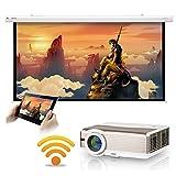 5000 lumen WXGA Android LCD Smart HD Proyector de video inalámbrico con WiFi, cine en casa LED...