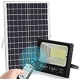 LEDMO LED Luz Solar Exterior 200W con Control Remoto 8M focos led exterior solares 6500K IP67...
