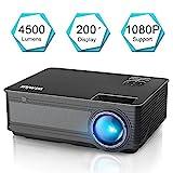 Proyector, WiMiUS Video Proyector 4500 Lúmenes Soporta Full HD 1080P Proyector LED 55000 Horas...