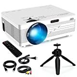 Merisny Mini Proyector Portatil, 2400 Lúmenes Video Proyector LCD 40000 Horas LED, 1080P HDMI...