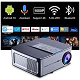 Proyector 4K WiFi Bluetooth Artlii Play3, Proyector Android TV10 340ANSI, 1080P...