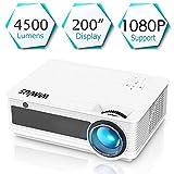Proyectores, WiMiUS Video Proyector 4000 Lúmenes Soporta Full HD 1080P Proyector LED 50000...