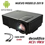 Proyector Full HD 1080P, LUXIMAGEN V100W (2019 Nuevo), Proyector Barato Maxima luminosidad...