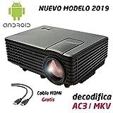 Proyector Full HD 1080P, LUXIMAGEN V100W (2019 Nuevo), Proyector Maxima luminosidad Portátil...