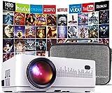 DBPOWER Mini proyector, 2200 Lumen Proyector LED de Video HD 1080P con Pantalla de 176', Vida...