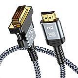 Cable HDMI a DVI 1.8m, Snowkids Bidireccional Adaptador HDMI DVI Macho, Alta Velocidad Trenza...