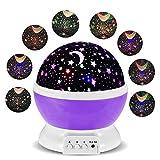 Lámparas Infantiles Lámpara de Proyector Estrella Luces navidad 360 Grados de rotación LED...