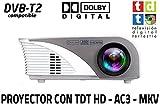 Proyector portatil Unicview SG100, soporta hasta FULLHD, con TV TDT de Alta definición, USB...