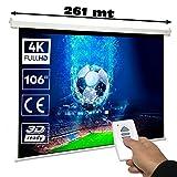 Pantalla de proyeccion electrica Luxscreen de 106' Dimensiones de la Tela 2,34 x 1,32 Metros y...