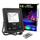 LE Foco LED RGB de 10W, 16 Colores y 4 Modos, Foco Proyector Exteriores, IP65 Resistente al...
