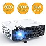 Proyector, APEMAN Mini Proyector Portátil en Casa, Soporte HD 1080P, 3800 Lúmenes, Pantalla...