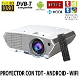 Proyector FULLHD modelo ( 2018 ) Luximagen SV350, Android, Wifi, TV TDT, AC3, LED, compatible...