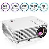 Proyector, Mini Proyector TENKER RD805, Portable Home Cinema HD LED Vídeo Proyector de...