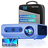Proyector WiFi Bluetooth Full HD 1080P, TOPTRO 7500 Lúmenes Proyector 1080P Soporta 4K y...