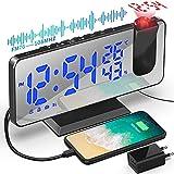 Despertador de Proyección 7.5 Pulgadas Digital 180° Rotativo Despertador Proyector Función...