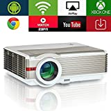5000 lumen WXGA Android LCD Smart HD Proyector de video inalámbrico con WiFi, cine en casa LED...