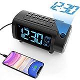 Radio Despertador Proyector, Liorque Reloj Despertador Digital con Gran VA Pantalla, Radio...