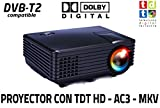 Proyector de Alta definicion FULLHD, Android, WiFi, TV TDT, AC3, LED, Compatible con PS4,...
