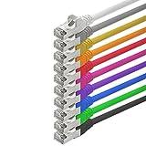 1aTTack - Cable de Red FTP con 2 Conectores RJ45 (categoría 5, 10 Unidades) 10 Colores 1m