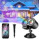 Luces de Proyector Navidad, ALED LIGHT Impermeable Exterior Decoración Luz de Proyector con...