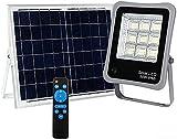 Foco Proyector Solar LED Regulable con Mando a Distancia, Luz Exterior Dimmable, iluminación...